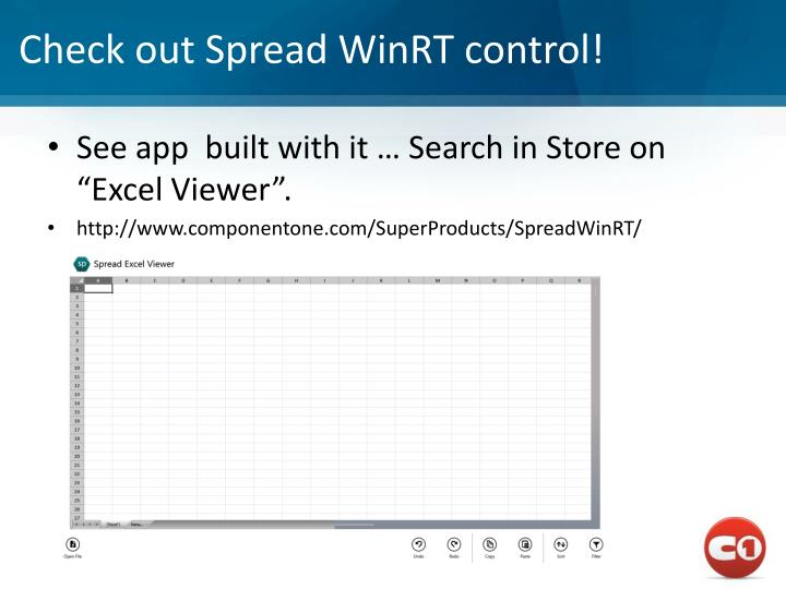 Check out Spread WinRT control!