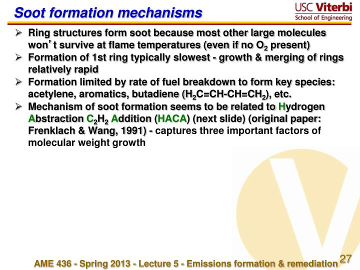 Soot formation mechanisms