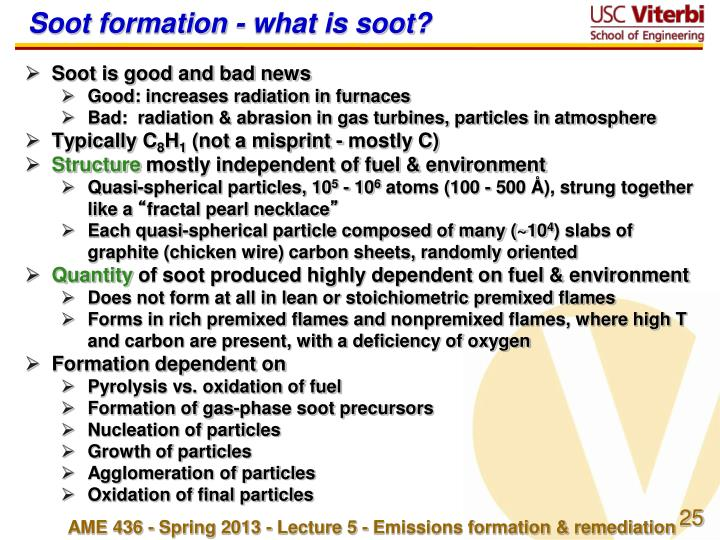 Soot formation - what is soot?