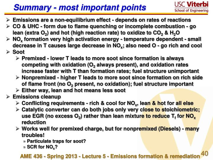 Summary - most important points