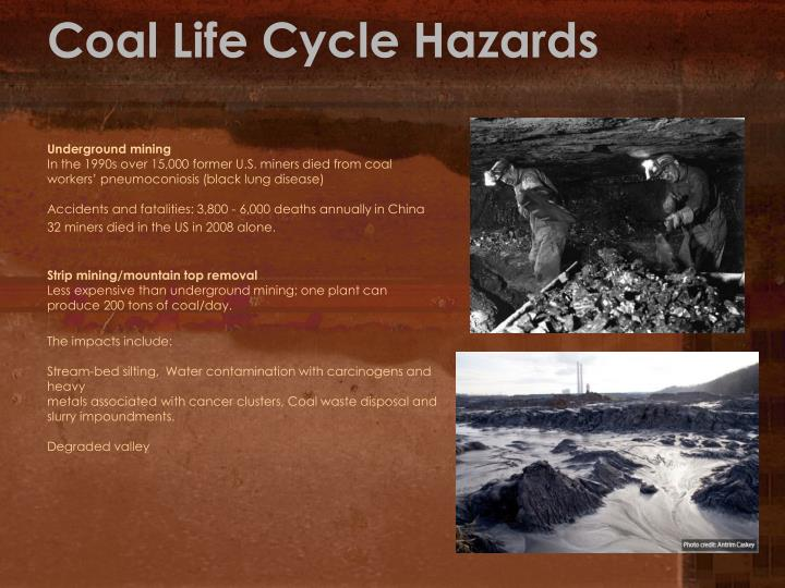 Coal Life Cycle Hazards