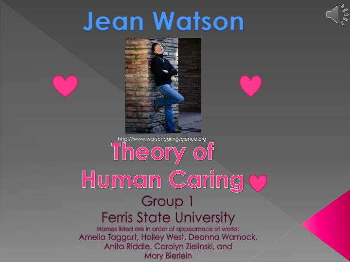 critique of jean watsons theory essay For this project, you will select and critique a nursing theory of your choice (jean watson-nursing as caring theory) write an original paper about some conceptual.