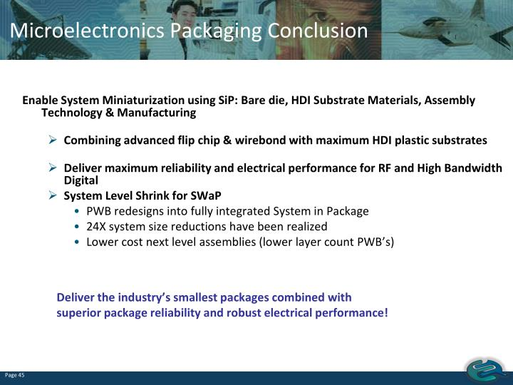 Microelectronics Packaging