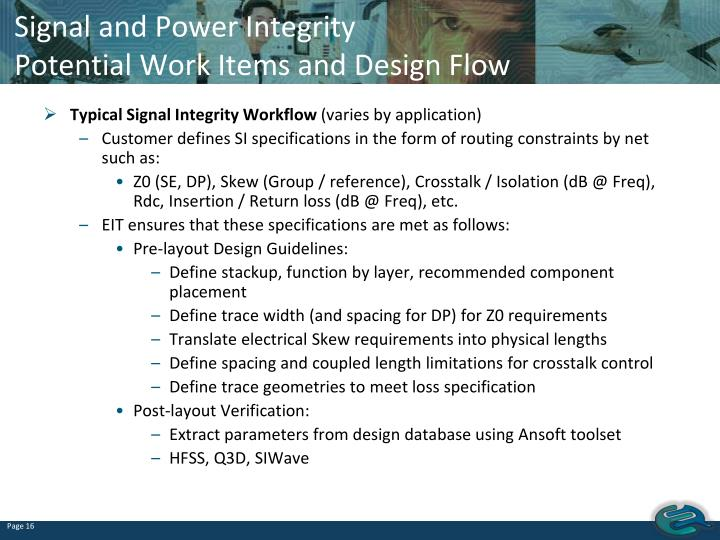 Signal and Power Integrity