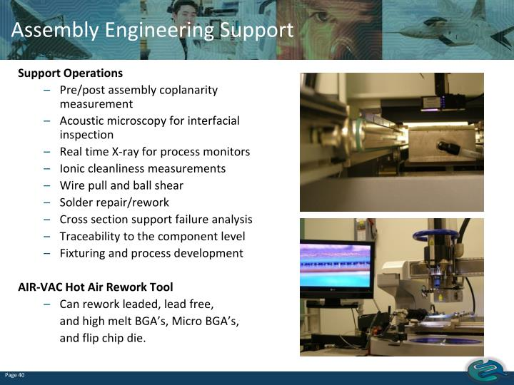 Assembly Engineering Support