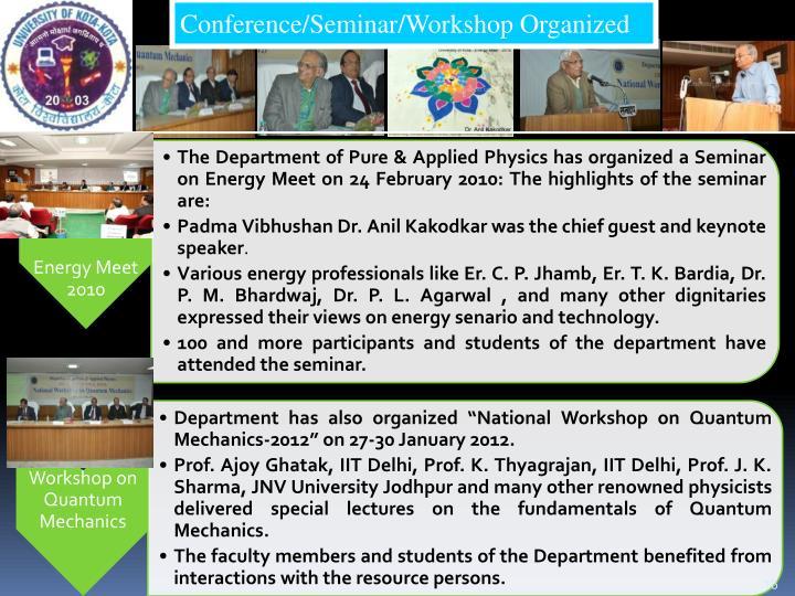 Conference/Seminar/Workshop