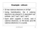 example silicon