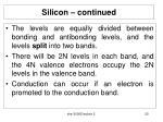 silicon continued