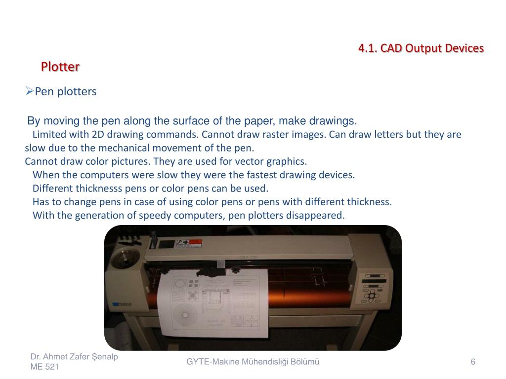 PPT - 4 1  CAD Output Devices PowerPoint Presentation - ID