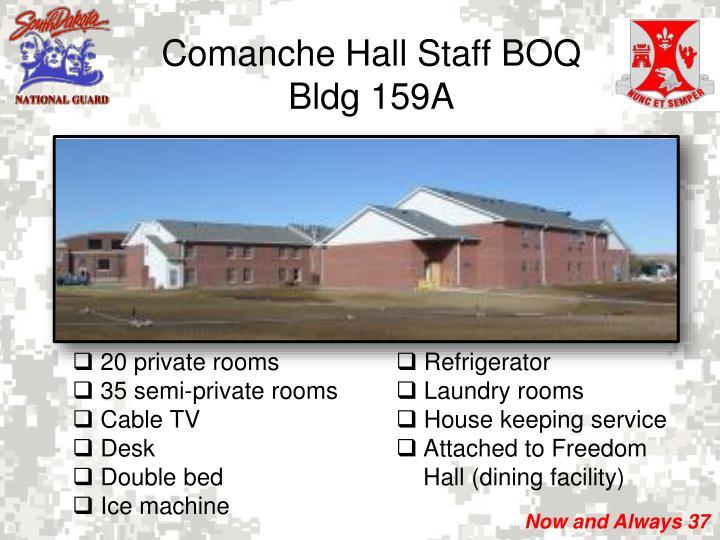 Comanche Hall Staff BOQ