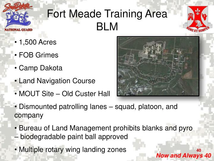 Fort Meade Training Area
