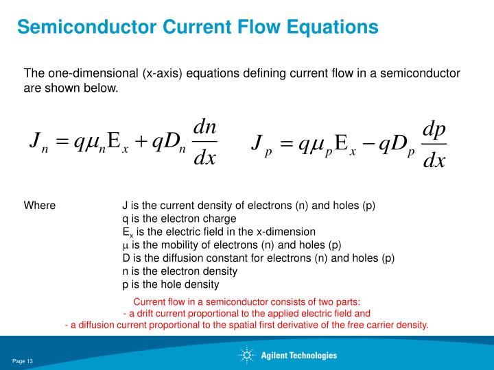 Semiconductor Current Flow Equations
