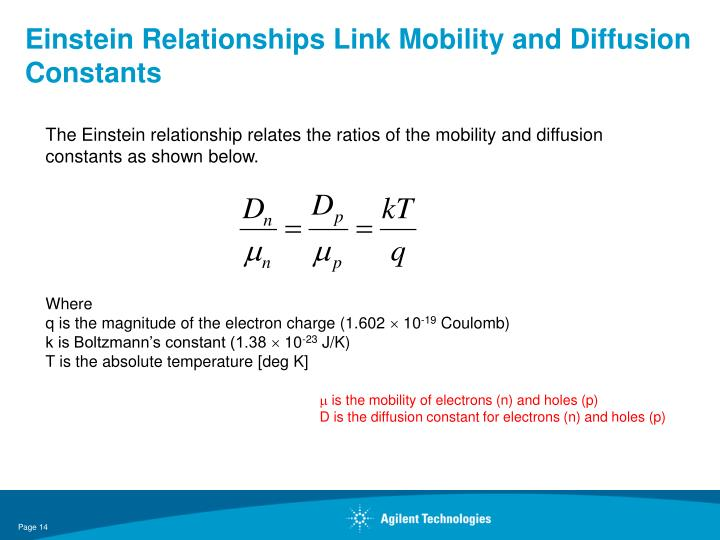Einstein Relationships Link Mobility and Diffusion Constants