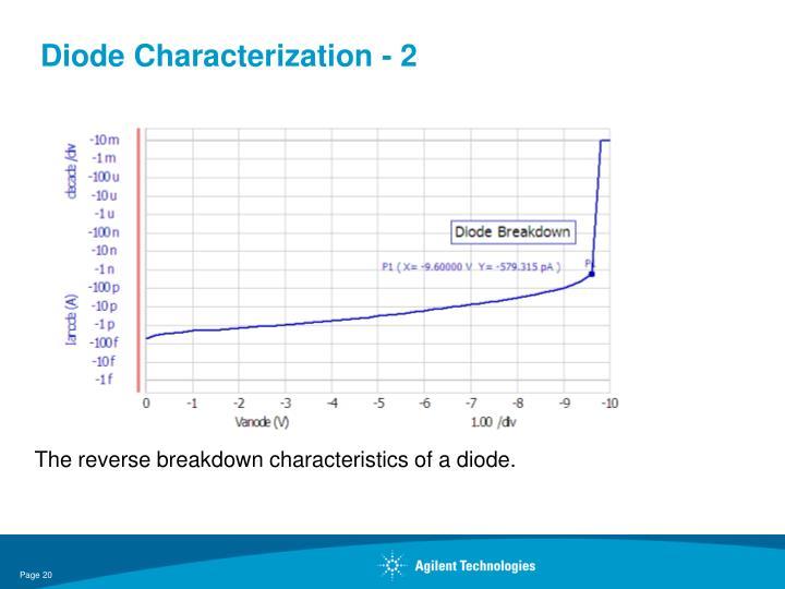 Diode Characterization - 2