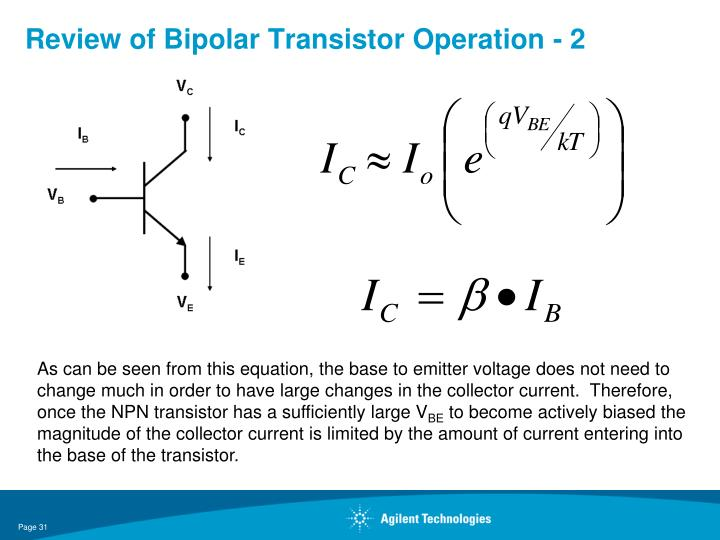 Review of Bipolar Transistor Operation - 2