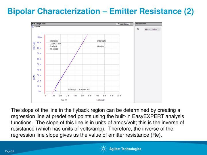 Bipolar Characterization – Emitter Resistance (2)