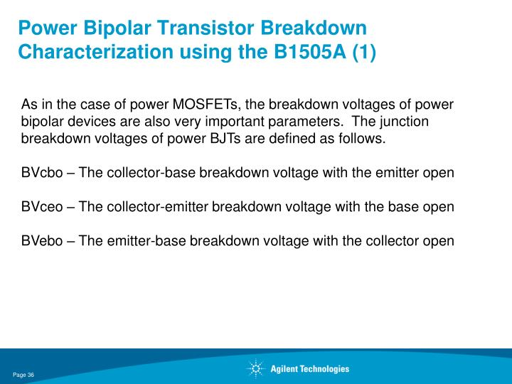 Power Bipolar Transistor Breakdown Characterization using the B1505A (1)