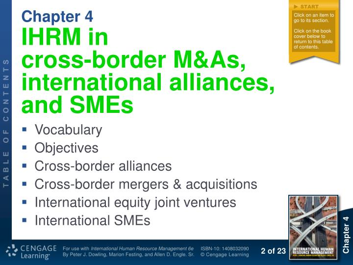 Ihrm in cross border m as i nternational alliances and smes