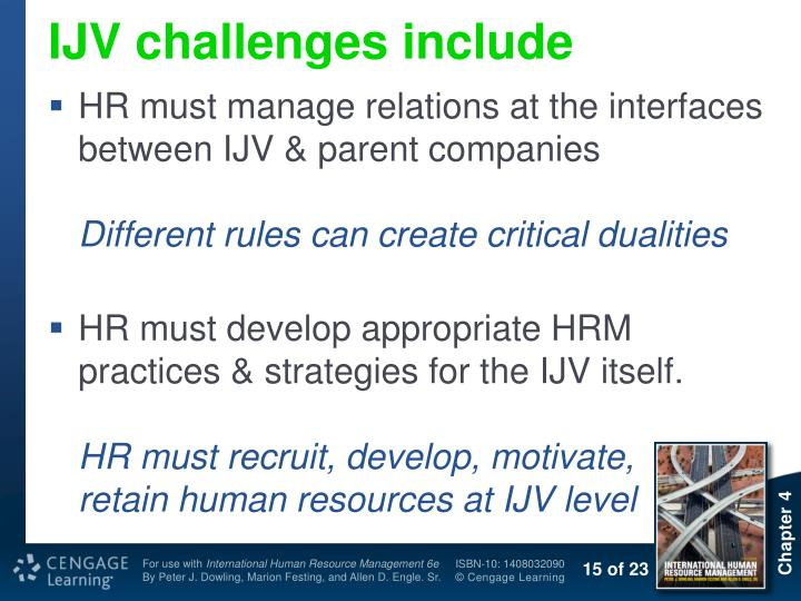 IJV challenges include