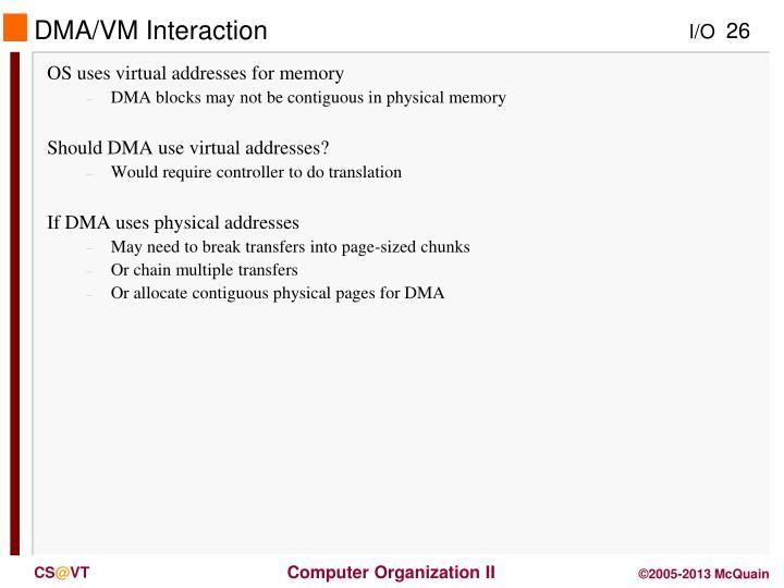 DMA/VM Interaction