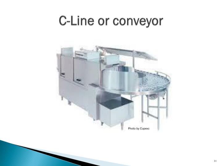 C-Line or conveyor