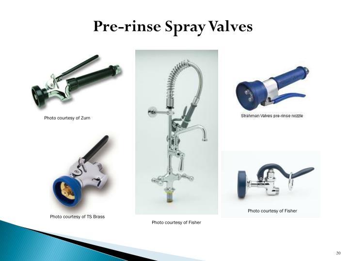 Pre-rinse Spray Valves