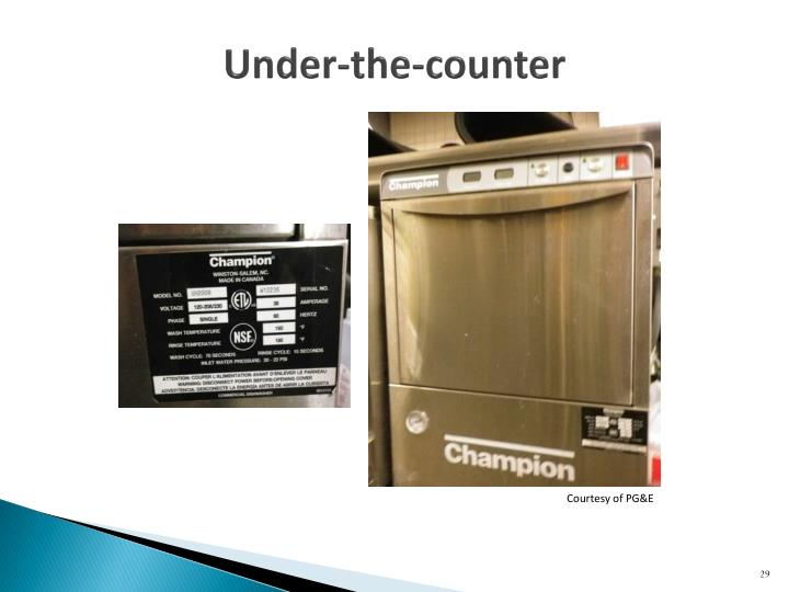 Under-the-counter
