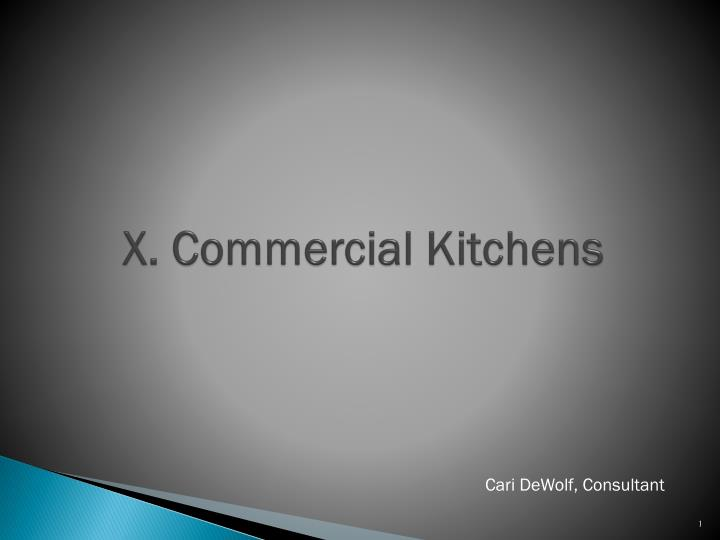 X commercial kitchens