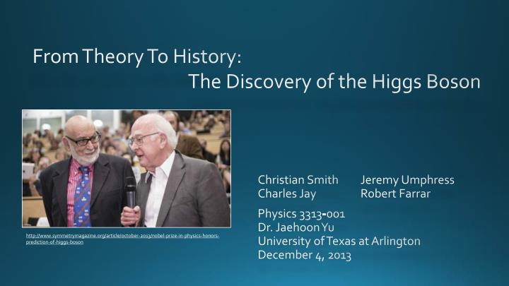 From theory to history