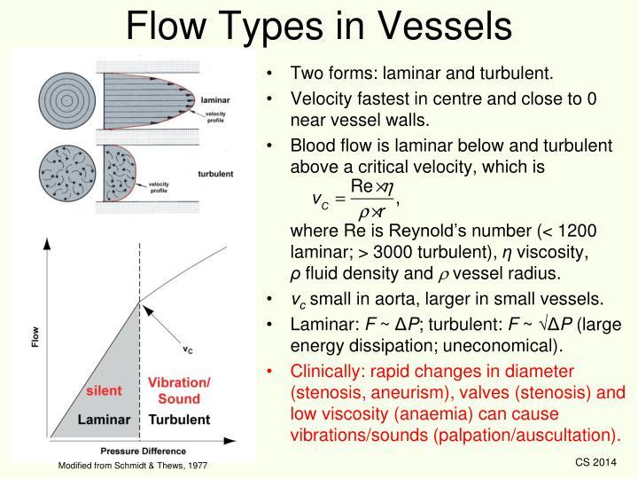 Flow Types in Vessels