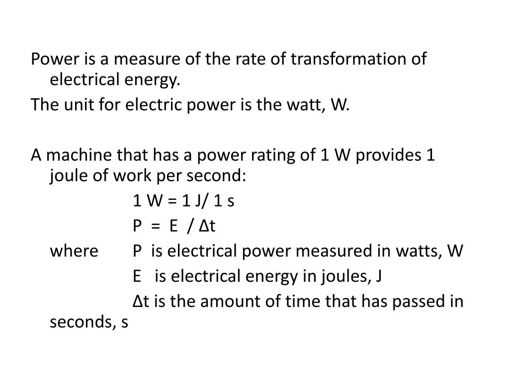 PPT - Dynamic Electricity: Electric Energy &Power PowerPoint