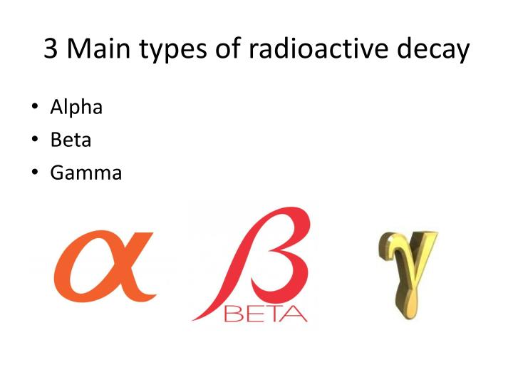 3 Main types of radioactive decay