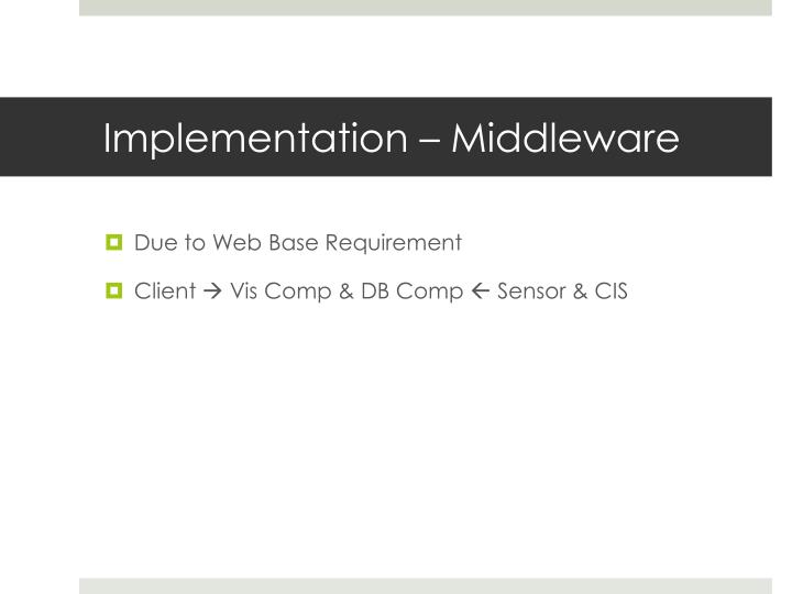Implementation – Middleware