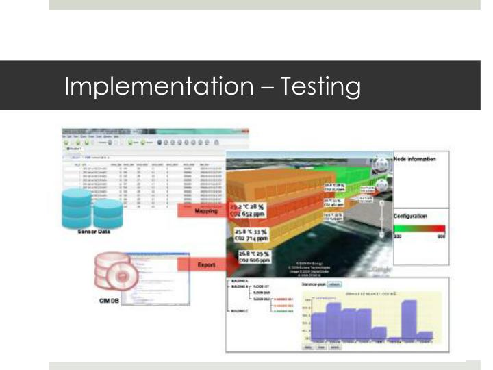 Implementation – Testing