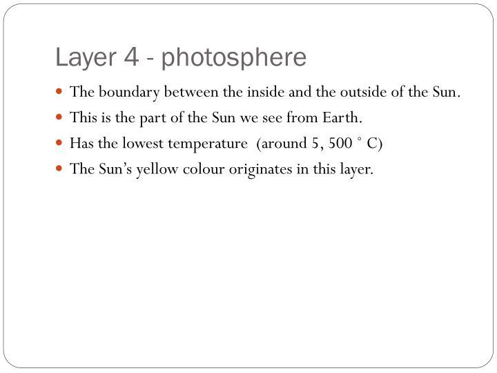 Layer 4 - photosphere