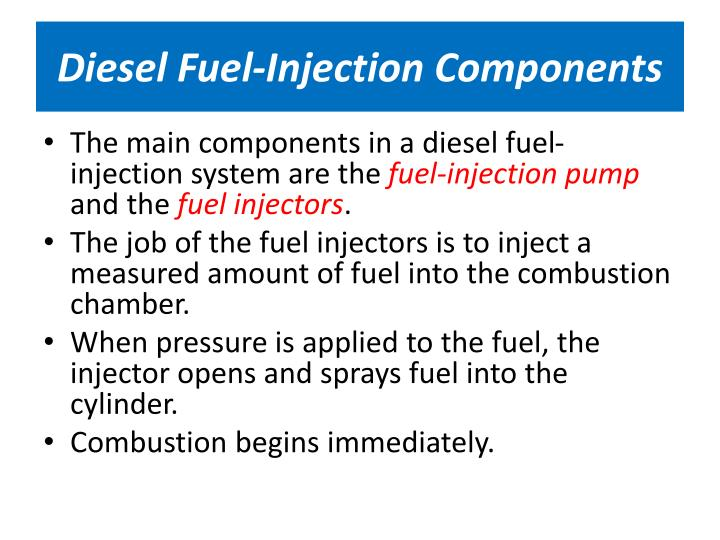 Diesel Fuel-Injection Components