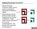 optical proximity correction