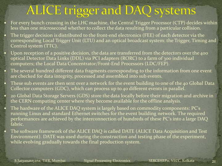 ALICE trigger and DAQ systems