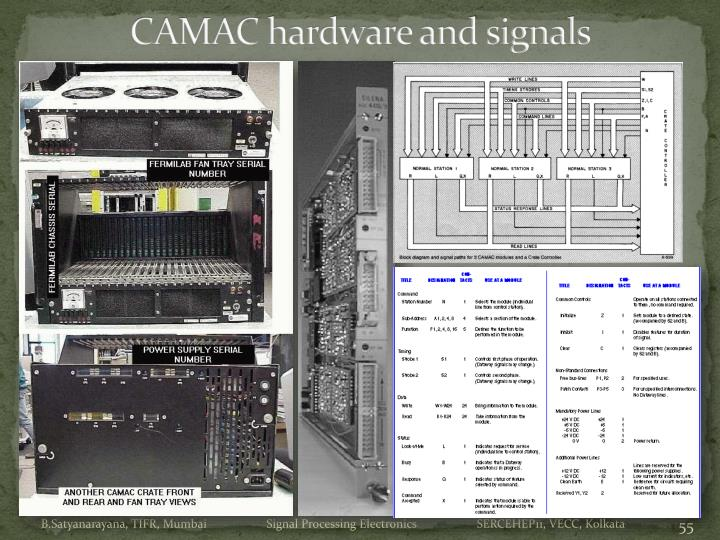 CAMAC hardware and signals