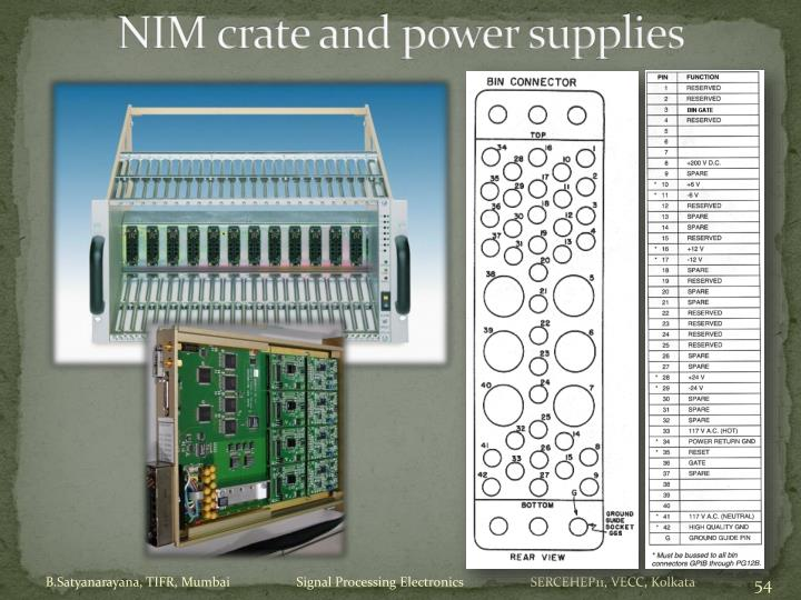 NIM crate and power supplies