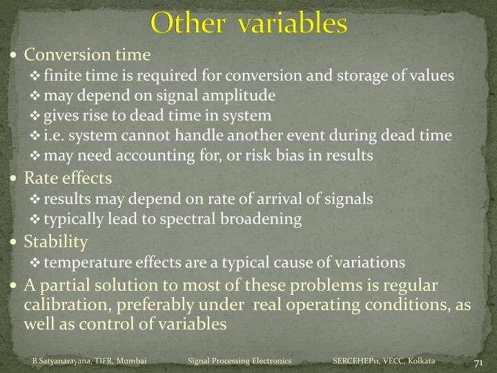 Other  variables