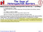 the saga of heterojunction barriers