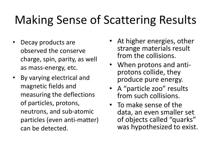 Making Sense of Scattering Results