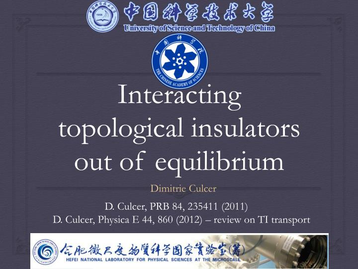interacting topological insulators out of equilibrium