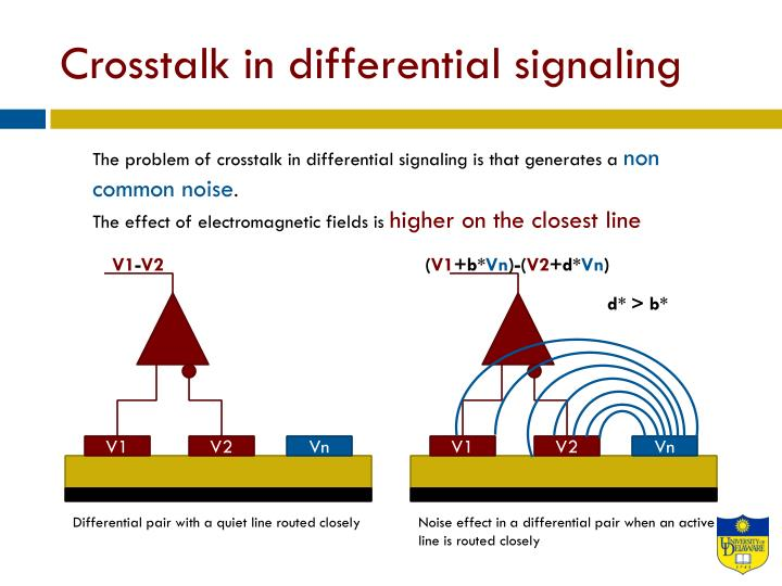 Crosstalk in differential signaling
