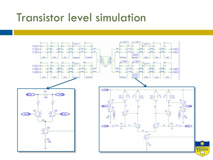 Transistor level simulation