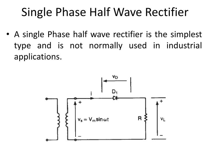 Single Phase Half Wave Rectifier