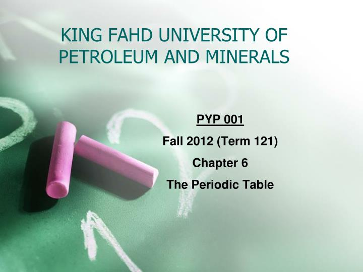 king fahd university of petroleum and minerals n.