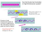 can the exciton be controlled in high dimensional crystals