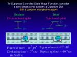 to suppress extended state wave function consider a zero dimensional system a quantum dot
